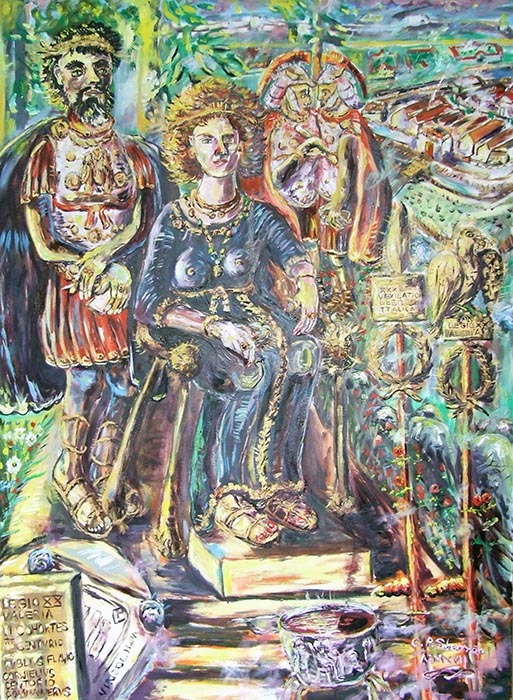 Roman Empress Sabina + Hadrian Britain 122 AD